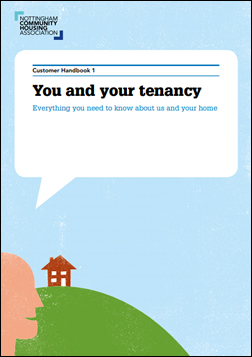 Front cover of the tenant handbook.