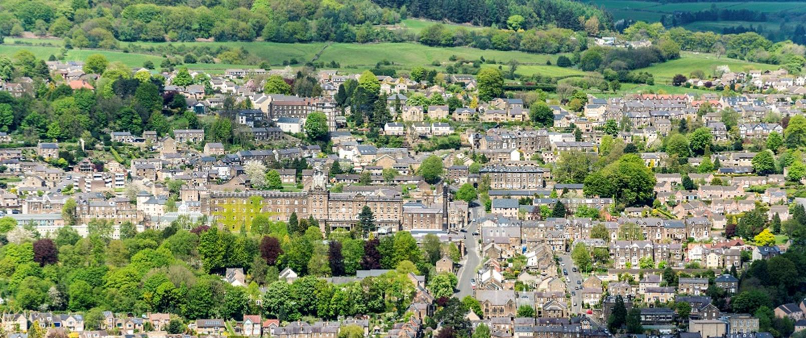 View of Matlock in Derbyshire